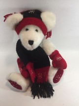 Vintage Boyds Bear 1364 Archive Series 1990-00  White Jointed Bear red and black - $23.19