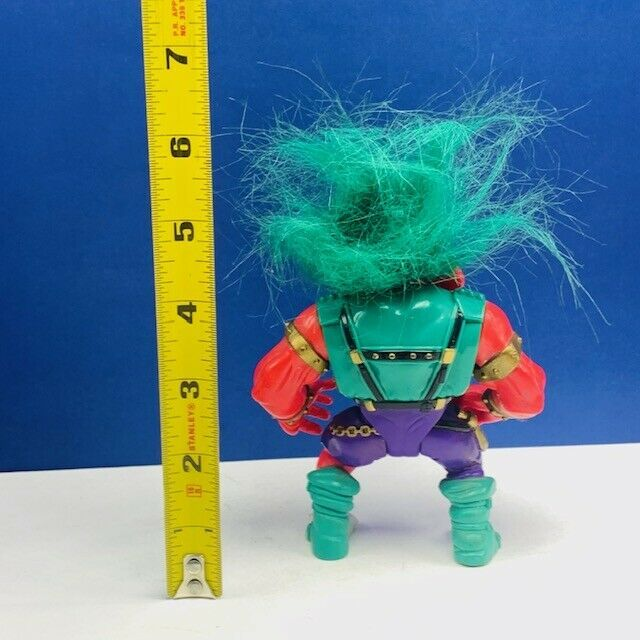 Trolls action figure toy vtg retro Warrior Battle applause green hair red armor image 2