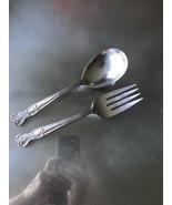 VINTAGE 1951 MAGNOLIA AKA INSPIRATION CASSEROLE SPOON & MEAT FORK EUC!! - $23.76