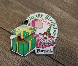 Disney Pin Cheshire Cat Happy Birthday Heart In Package 2008 Disneyland Le 1000 - $8.90