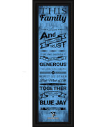 """Johns Hopkins University """"Blue Jays""""- 24 x 8 Family Cheer Framed Print - $39.95"""