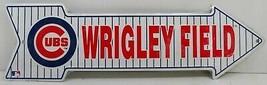 Wrigley Field Baseball Arrow Embossed Metal Sign - $15.00