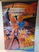 "Vintage Large Universe Promo Poster, 1987 Marvel 34x22"" Great Condition - $20.00"