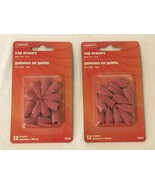 Staples Pencil Cap Erasers Lot 2 Pink Dozen Latex Free 12 Per Package 24... - $11.99