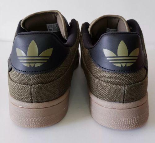 fce87a334b71 Adidas Bucktown Hemp Athletic Shoe Olive Black Hemp Gum Sole AC6980 Mens Sz  9.5