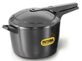 Hawkins Black Futura Pressure Cooker Indian Stove top Steamer Capacity 5... - $138.69