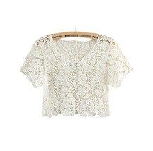Beach Favourite Shawl Capelet All-match Short Shirt Blouse, WHITE