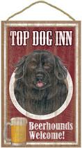 "Top Dog Inn Beerhounds Newfoundland Bar Sign Plaque dog 10"" x 16"" Beer - $21.95"