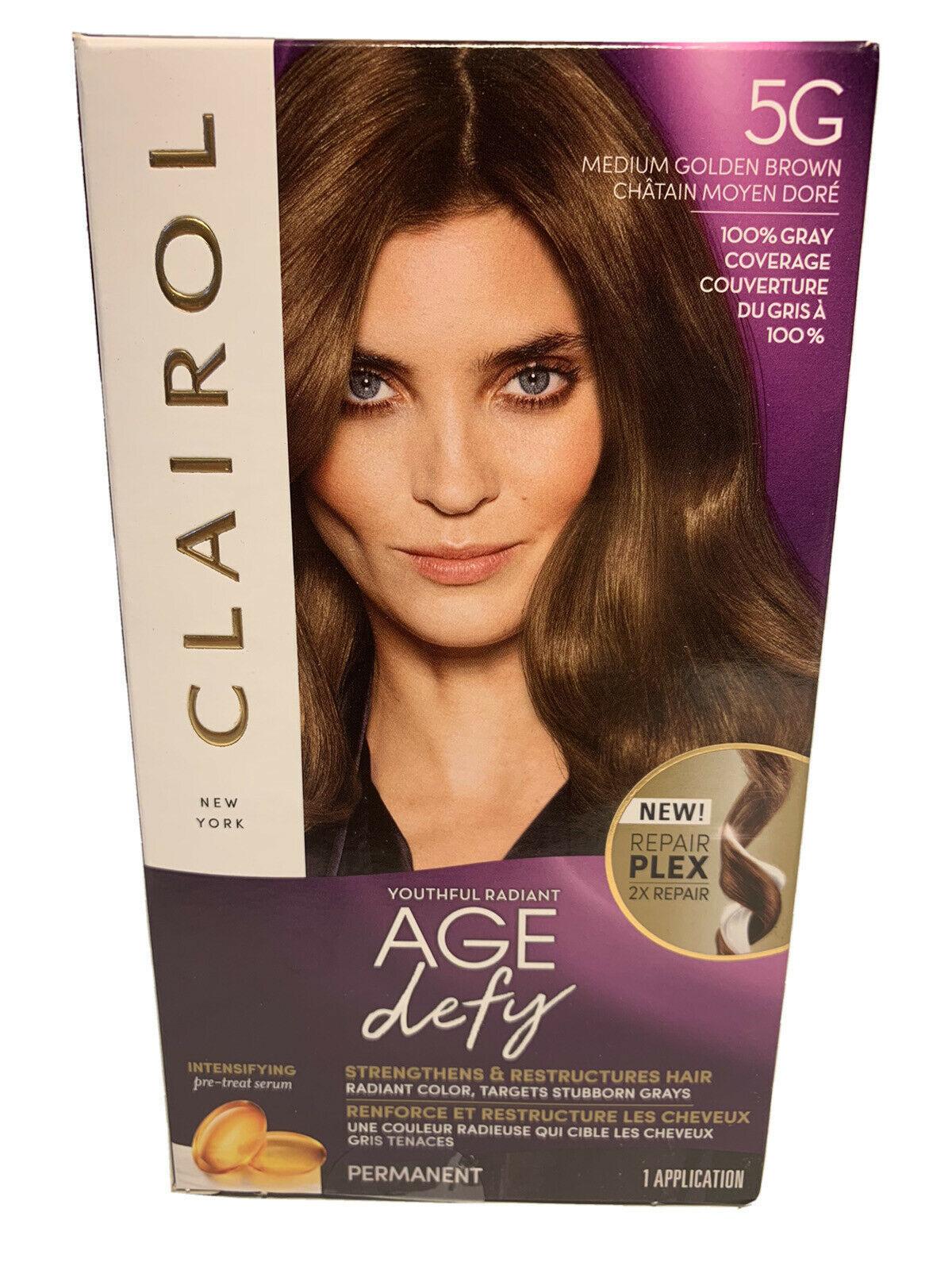 CLAIROL Youthful Radiant Age Defy Permanent 5G Medium Golden Brown hair dye - $12.86