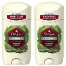 2 Old Spice Citron Sandalwood Deodorant/Anti Perspirant Mens 2.6 oz Soli... - $19.77