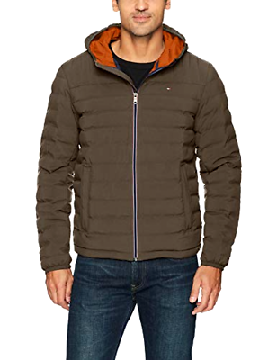Primary image for Tommy Hilfiger Men's Ultra Loft Quilted Stretch Hooded Puffer Jacket - Choose SZ