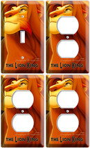 Lion King Simba 1 Light Switch 3 Outlet Lot Wall Plates Nursery Baby Room Decor - $35.09