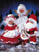 "13"" Christmas Craft Doll Clothes Mr. & Mrs. Santa Angel Carolers Crochet... - $13.99"