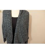 Women M L 14 16 Sweater Cardigan Coat Jacket Shawl Open Wool Knit Drape ... - $25.99