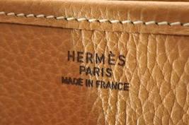 HERMES Evelyn GM Shoulder Bag Leather Brown Auth 9208 image 10