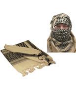 Tan Shemagh Tactical Desert Keffiyeh Arab Heavyweight Scarf - $11.99