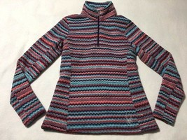 Spyder Womens 6 Savona Chevron Purple Blue Orange Pullover Mock Neck Swe... - $24.99