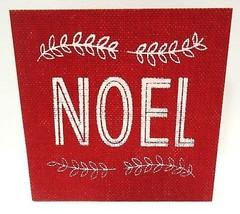 HALLMARK - RUSTIC - VINTAGE - NOEL - CHRISTMAS - BURLAP - WOOD - SIGN - ... - $3.59