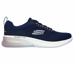 Skechers Navy Pink shoes Memory Foam Women's Sporty Air Ultra Flex Comfort 13290 image 2