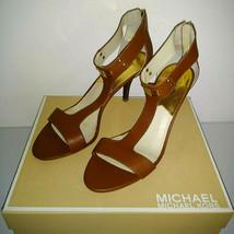 Michael Kors WOMENS Plate Open Toe Sandals Pumps Sz.9.5 Medium Brown - $48.19