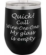 Quick Call Wine One | 12oz Stainless Steel Stemless Wine Glass Tumbler w... - $19.59