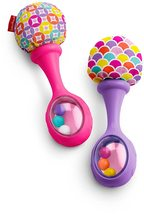 Fisher-Price Rattle 'n Rock Maracas, Pink/Purple baby rattle  - $14.00