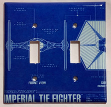 Star Wars Imperial Tie Fighter Light Switch Outlet wall Cover Plate Home Decor image 2
