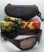 Polarizadas Maui Jim Gafas de Sol H 410-26M Waterman Mate Rootbeer con / Bronce