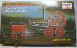 Minicraft Model Kit Legends of Railroading 1804 Trevithick 1/38 11102 Open Box - $48.99