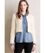 NWT ANTHROPOLOGIE ISLAY BEADED TOPPER CARDI SWEATER by SEEN WORN KEPT XL - $94.49