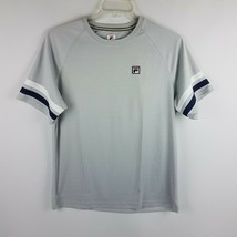 FILA Men Legend Tennis Crew TM181B91 Gray White Black Size Small - $29.95