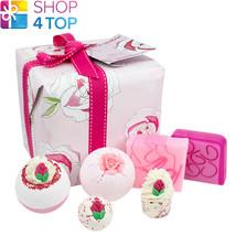 Rose Garden Gift Pack Bomb Cosmetics Chamomile Lemon Geranium Handmade Natural - $24.82