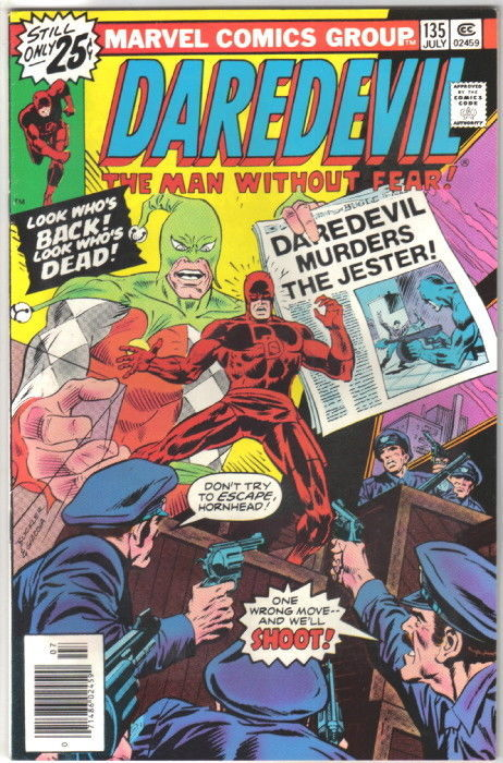 Daredevil Comic Book #135 Marvel Comics 1976 VERY FINE/NEAR MINT