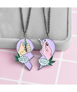 Fashion 2 PCS/set Necklace Best Friend Pink Heart Cigarette lighter pend... - $9.36