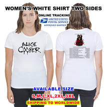 Alice Cooper 2018 Tour Nice Shirt A3,WHITE Color,Sizes S-3XL Available Radio - $11.00+