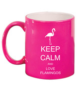 11oz Ceramic Coffee Tea Mug Glass Cup Keep Calm and  Love Flamingos - $14.99