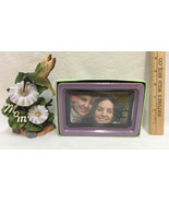 Mother Daughter Gifts Mom Hummingbird Figurine & Photo Frame Paperweight... - $19.75