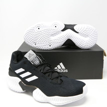 Adidas Pro Bounce 2018 Low Basketball Shoes Black White AH2673 NCAA Team... - $68.39