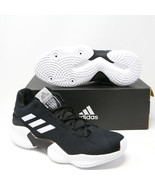 Adidas Pro Bounce 2018 Low Basketball Shoes Black White AH2673 NCAA Team... - $69.91