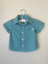 Oshkosh B'gosh 6 Months Plaid Button-Front Shirt Baby Boy Clothes  - $13.00