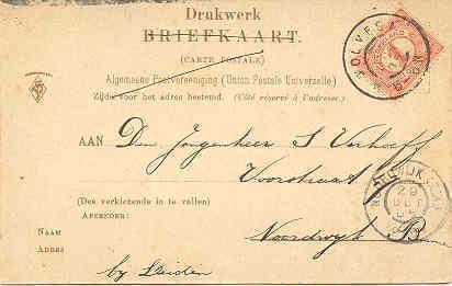 Wolvega Netherlands Hoofdstraat 1905  Post Card