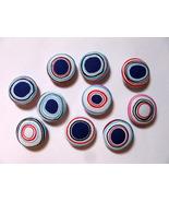 Fabric Buttons - Irregular Dot Print Set Of 50  - $20.00