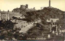 Calton Hill Edinburgh Scotland Vintage Post Card - $7.00