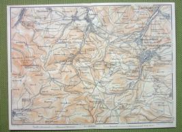 GERMANY Environs of Friedrichroda Winterstein Brotterode - 1904 MAP Baed... - $5.07