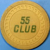 $5 Vintage Casino Chip. 55 Club, San Jose, CA. 1950. Q52. - $14.50