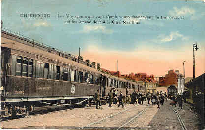 Cherbourg Railroad Station France 1927 Vintage Post Card