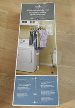 Whirlpool XHS1000XX Laundry 123 Adjustable Clothes Rack, White Brand New - $34.63