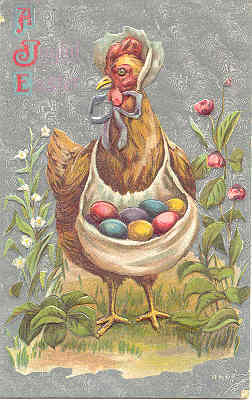 Mother Hen Delivers The Eggs 1910 Vintage Post Card