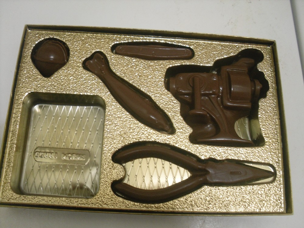 Primary image for Chocolate Fishing Gear in a gold gift box