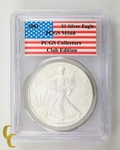 2003 Silver 1 oz American Eagle $1 PCGS Collectors Club Edition Graded MS 68 - $49.49